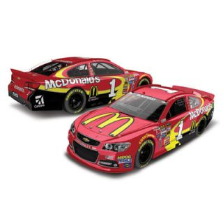Action Racing Jamie McMurray 2015 #1 McDonalds 1:24 Scale Platinum Die Cast Chevrolet SS