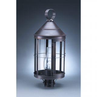 Heal Chimney Cone Top 1 Light Post Light by Northeast Lantern