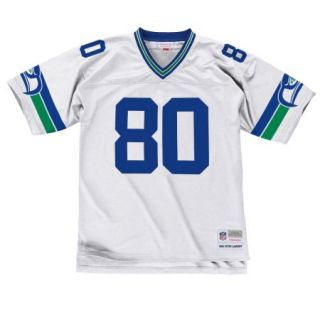Steve Largent Seattle Seahawks Mitchell & Ness Throwback Premier Jersey   White