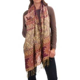 Threads 4 Thought Patterned Button Wrap/Scarf (For Women) 153WF 73