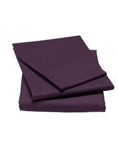 Linea 100% cotton percale bed linen in Purple