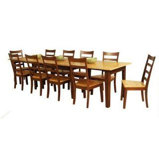 AAmerica BTL HC 6 17 L Bristol 38 x 132 3 Leaf Vers A Table in Honey Chestnut
