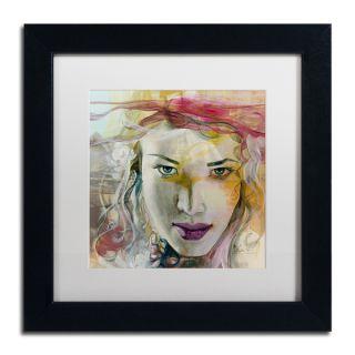 Andrea Desire White Matte, Black Wood Framed Wall Art   17534157