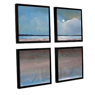 ArtWall Soothing Night 4 Piece Canvas Square Set 36 x 36 Floater Framed (0gro048e3636f)