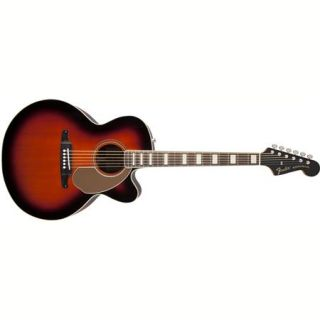Fender Kingman Jumbo SCE Guitar with Case, Rosewood Fingerboard,3 Color Sunburst 0968621232
