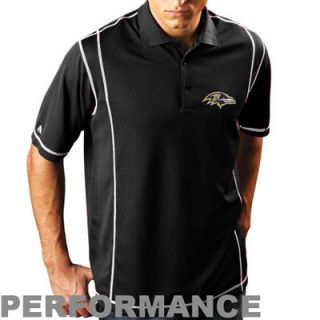 Antigua Baltimore Ravens Edge Polo   Black