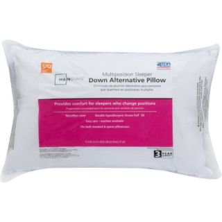 Mainstays Down Alternative 100 Percent Polyester Pillow in Multiple Sizes