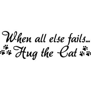 When all else failsHug the Cat Vinyl Art Quote
