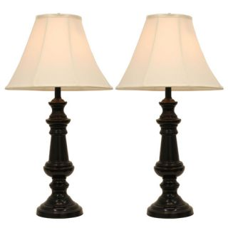 Hunt Home Touch Control 32 Table Lamp with Bell Shade