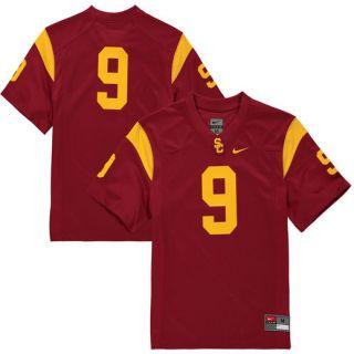 Nike #9 USC Trojans Youth Cardinal Replica Football Jersey