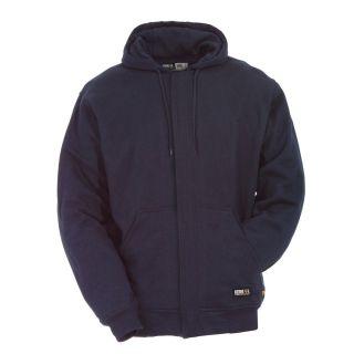 BERNE APPAREL Men's Small Navy Flame Resistant Sweatshirt