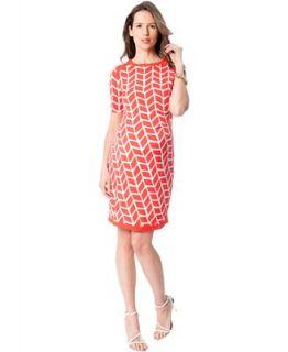 Donna Morgan Maternity Print Elbow Sleeve Dress   Maternity   Women
