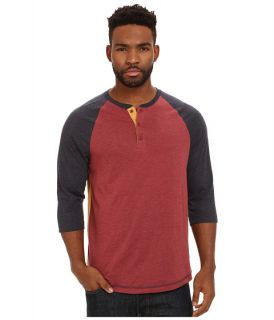 Levis Andrews Jersey Raglan Henley Sundried Tomato, Clothing