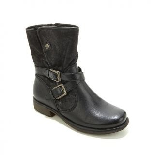 """PureSole™ """"Sammy"""" Leather Faux Fur Lined Moto Boot   8132057"""