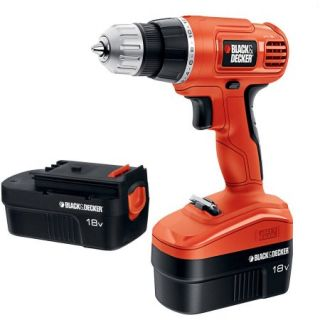 Black & Decker 18Volt Ni Cad Drill/Driver with 2 Batteries