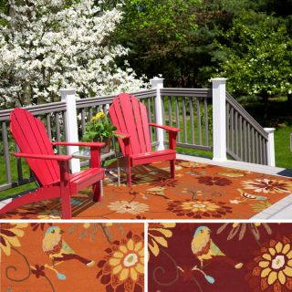 Hand hooked Lucy Transitional Floral Indoor/ Outdoor Area Rug (3 x 5