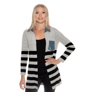 Nancy Yang Womens Jean Pocket Cardigan   Shopping   Top