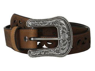Ariat Scroll Paisley Pierced Belt Brown