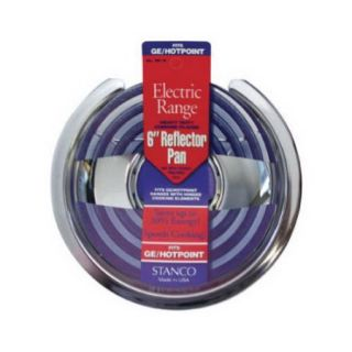STANCO METAL PROD Chrome Reflector Pan for Stoves, 6 Inch