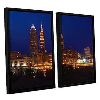 ArtWall Cleveland 15 2 Piece Canvas Set 32 x 48 Floater Framed (0yor028b3248f)
