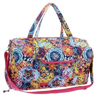 Danielle Morgan 20 Quilted Duffle Pink Multicolored