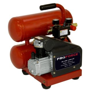Powermate 4 Gallon Proforce Oil Lubed Air Compressor with Extra Value
