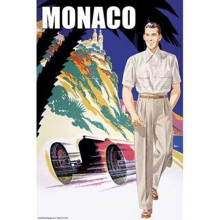 Monaco Mens 50s Fashion I by Sara Pierce Vintage Advertisement by
