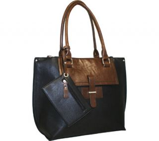 Womens Punto Uno by Nino Bossi 9913 Tailored Tote   Black