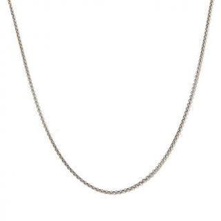 "Sevilla Gold 14K White Gold 1.9mm Rolo Chain 18"" Necklace   8139681"