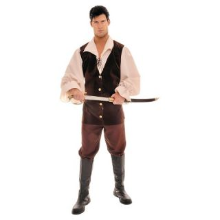 Mens Buccaneer Tan Brown Costume One Size