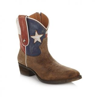 "Diego di Lucca ""Texas"" Distressed Leather Boot   7804725"