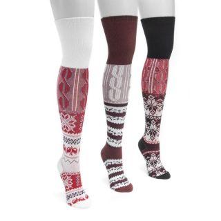 MUK LUKS Womens 3 Pair Pack Lodge Over the Knee Socks   18993011