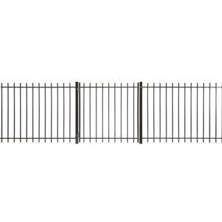 Kent Powder Coated Steel Decorative Metal Fence Gate (Common: 4 ft x 4 ft; Actual: 3.66 ft x 3.83 ft)