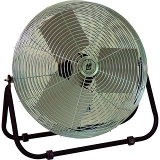 TPI Industrial Workstation Floor Fan — 24in., 1/8 HP, 5850 CFM, Model# F-24-TE  Floor Fans