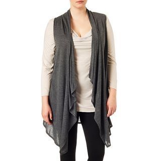 Studio 8 Sizes 16 24 Grey  jessica sleeveless waterfall waistcoat