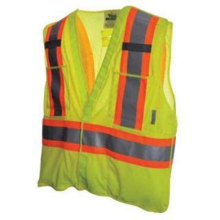 VIKING U6125G 4XL/5XL Safety Vest, Mesh, Green, 4XL/5XL
