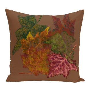 by design Autumn Leaves Flower Print Throw Pillow