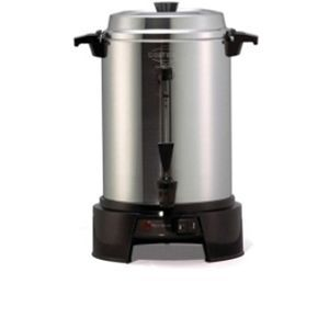 West Bend 13500 Commercial Urn   55 Cup, 1500 Watts, Designed for Offices, Churches, Breakrooms, Lounges, Cafes, Automatic Temperature Control, Serving Light, Interior Water Level Markings, Aluminum