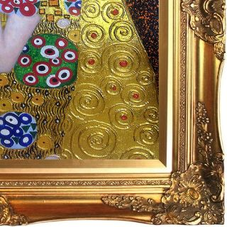 The Kiss by Gustav Klimt Framed Painting Print on Wrapped Canvas by