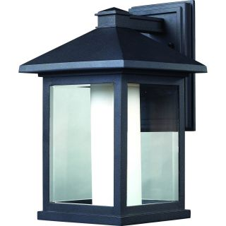 Z Lite 523B Mesa 1 Light Outdoor Wall Sconce in Black