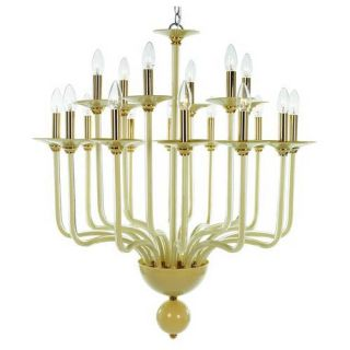 Trans Globe Lighting ATLANTA 35 GL Modern Glass Creations 35 Light European Glass Chandelier in Gold