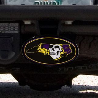East Carolina Pirates Domed Logo Plastic Hitch Cover