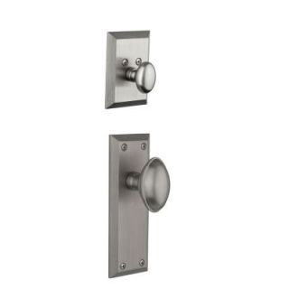 Grandeur Fifth Avenue Single Cylinder Satin Nickel Combo Pack Keyed Differently with Eden Prairie Knob and Matching Deadbolt FAVEDN 68 SN KD
