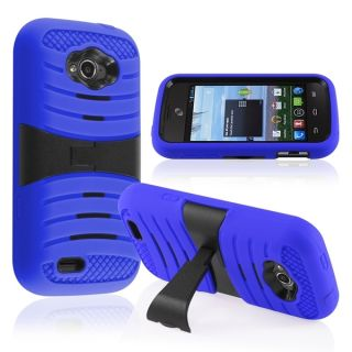 INSTEN Kickstand Dual Layer Plastic Hybrid Phone Case Cover for ZTE