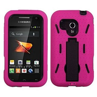 Insten Symbiosis Stand Protector Case For Samsung M830 Galaxy Rush, Black/Hot Pink