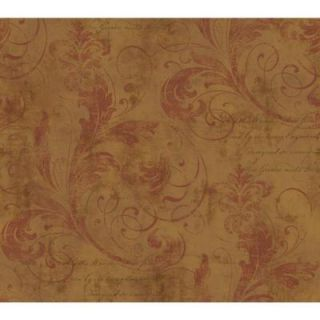 York Wallcoverings 60 sq. ft. Scroll Texture Wallpaper WW4496