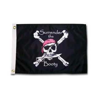 Pirate Heads Surrender the Booty Boat Flag