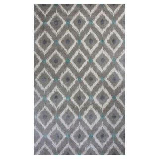 Kas Rugs Bob Mackie Home Silver/Grey Mirage 3 ft. 3 in. x 5 ft. 3 in. Area Rug BMH101733X53