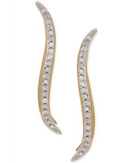 Diamond Ear Crawlers (1/10 ct. t.w.) in 14k Gold over Sterling Silver
