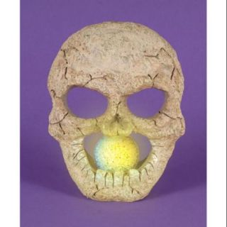 """8.5"""" LED Lighted Color Changing Flickering Eerie Skull Halloween Decoration"""